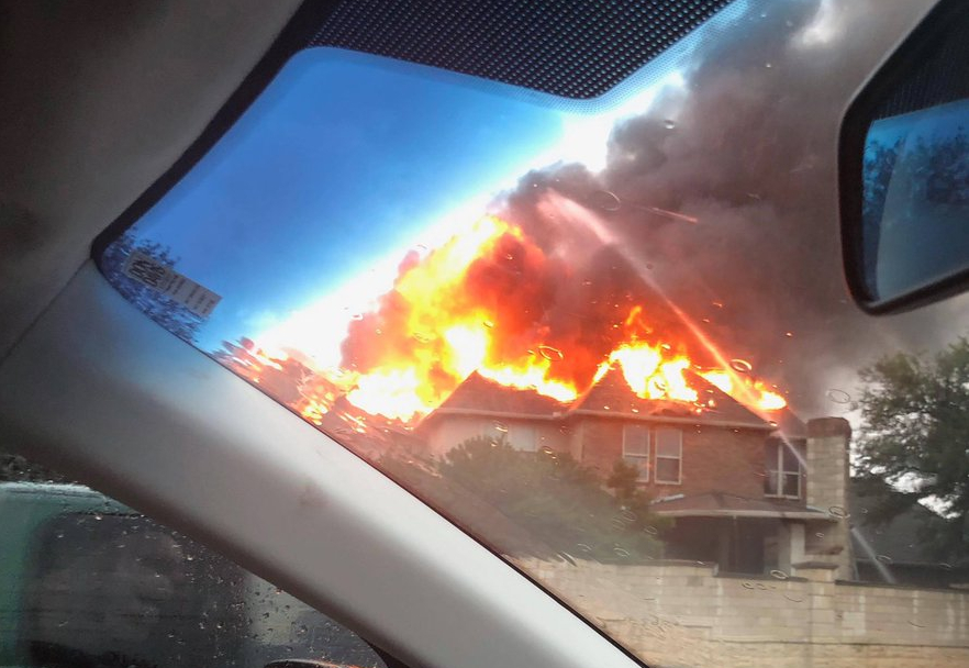 Lightening Strikes Attributed to at 3 House Fires in Tarrant County Sunday