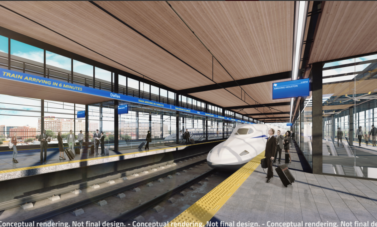 Developers Plan for Mixed-Use Development to include high-speed train station near Downtown Dallas