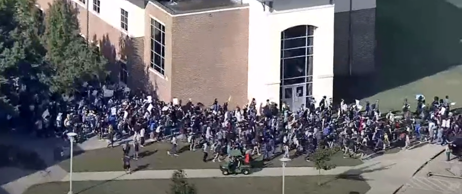 Denton ISD'S Guyer HS Students Participate in Walk Out to Protest Sexual Assault Allegations