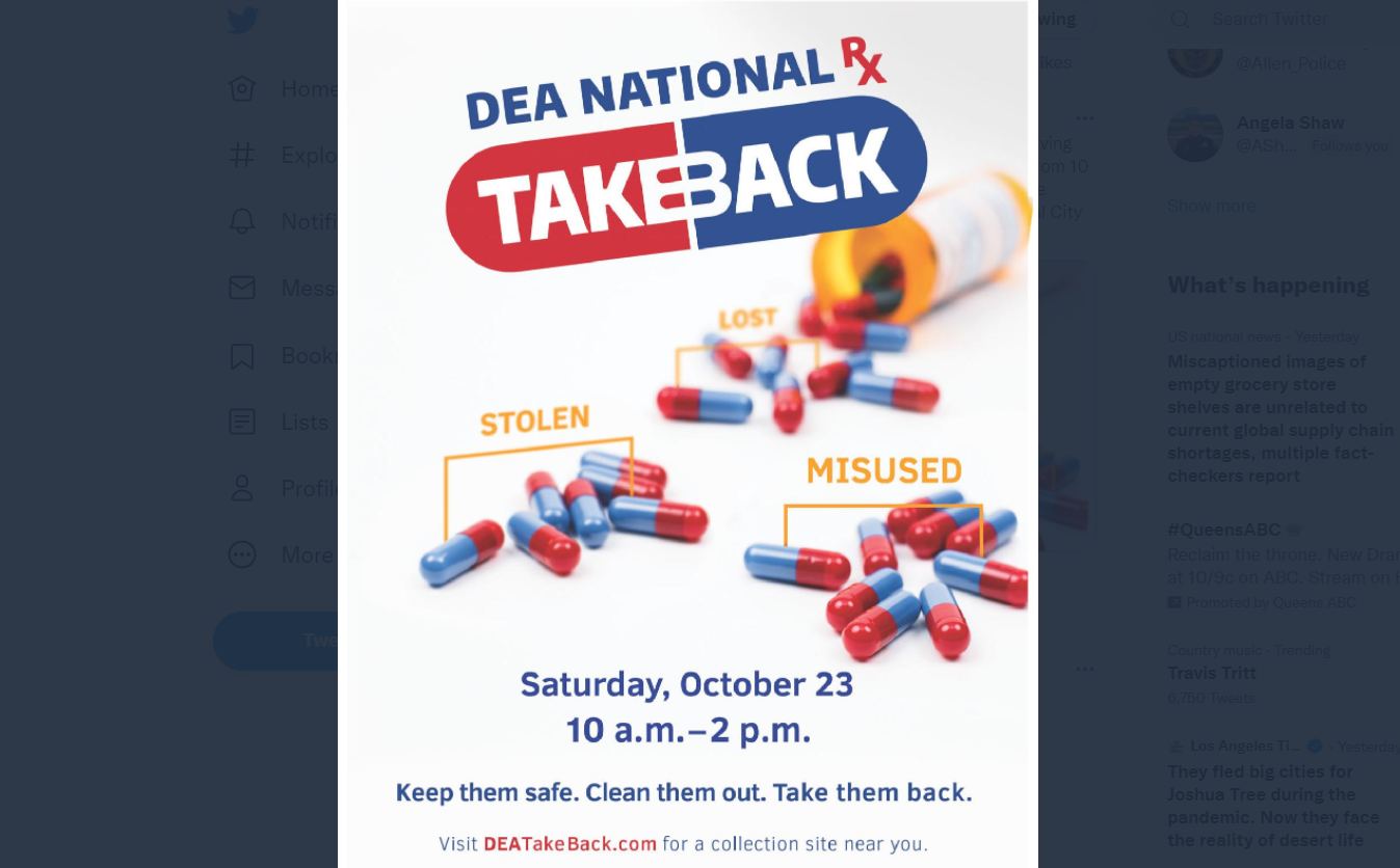 North Texas First Responders Preparing for National Drug Take Back Day