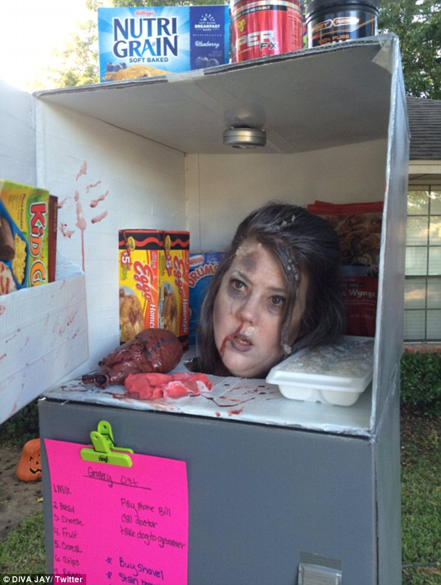 Texas Mother 'Head in a Freezer' Halloween Costume Is EPIC!