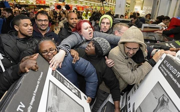 Must See Video! Black Friday Shopping Mayhem At Nike Store!