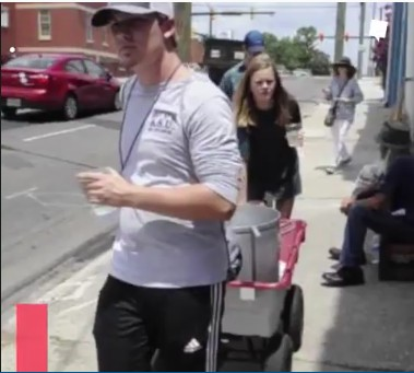Teens Serve Water to the Homeless in the Summer Heat