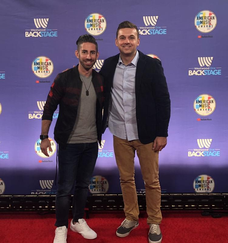 Scotty K and Bret Mega at the 2018 AMA's | 10.10.18