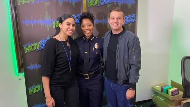 Dallas Police Chief Reneé Hall with The Morning Heat on The Hot 93.3
