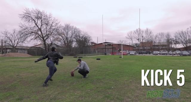 Did Karina Make a 10 yard Field Goal