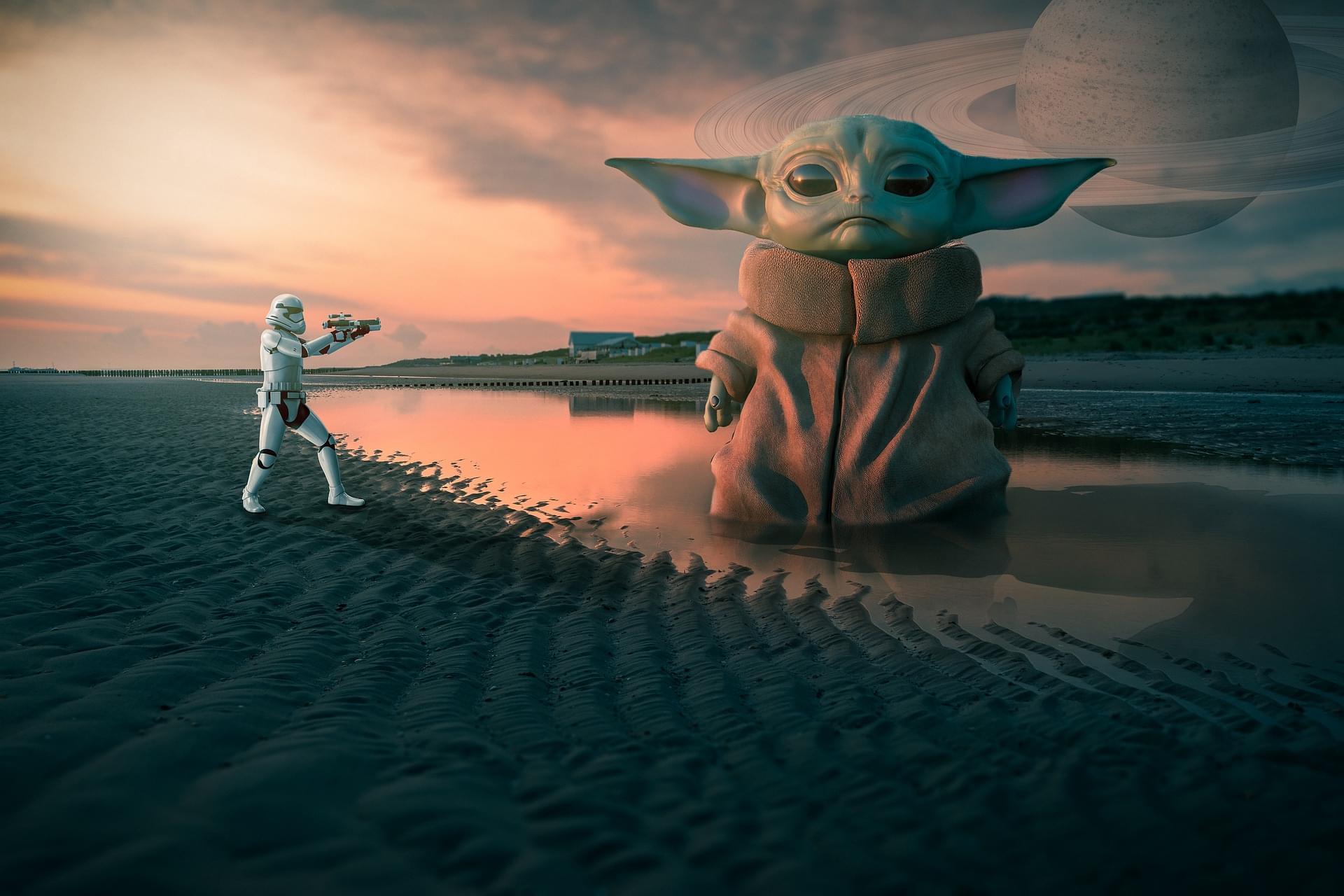 Baby Yoda Gets Chia Pet