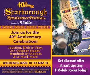 Listen to Win Scarborough Renaissance Festival Tickets
