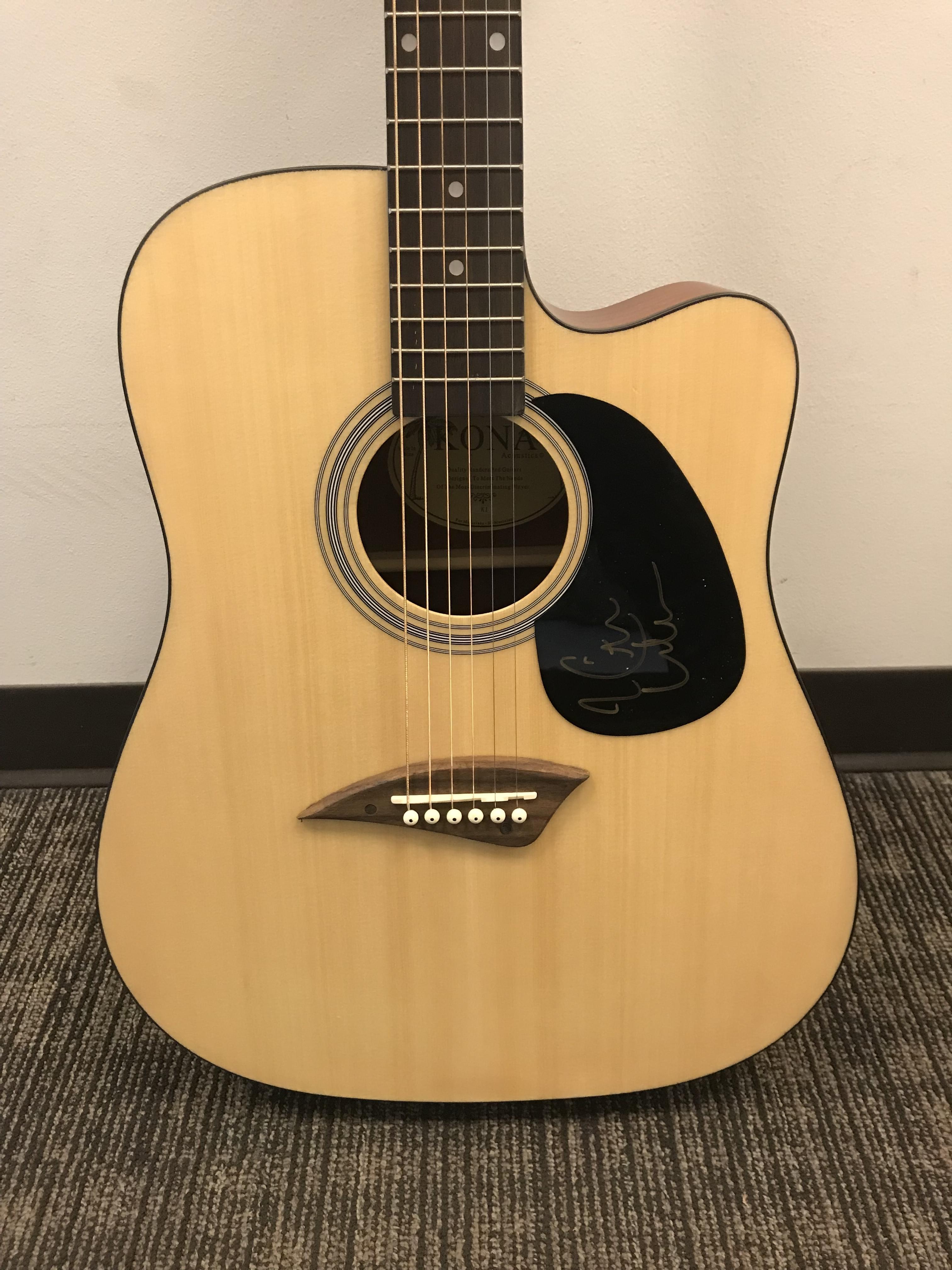 Auction Keith Urban Autographed Acoustic Guitar Kplx Fm