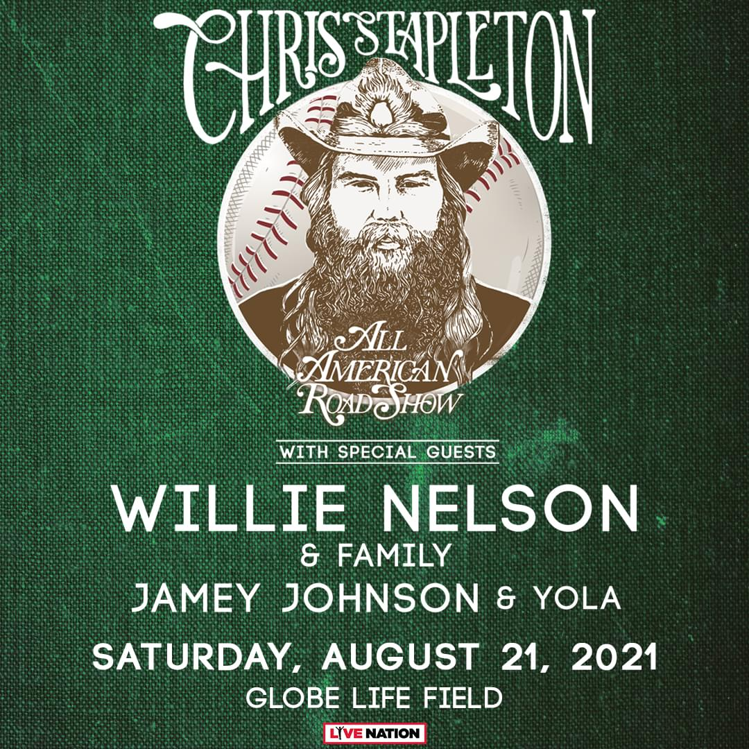Chris Stapleton | August 21, 2021 *NEW DATE*