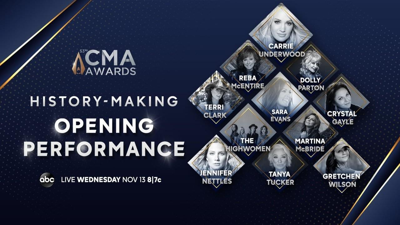 The CMA Awards Will Open With All-Star Performance!