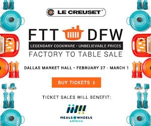 Le Creuset Dallas Factory to Table Sale