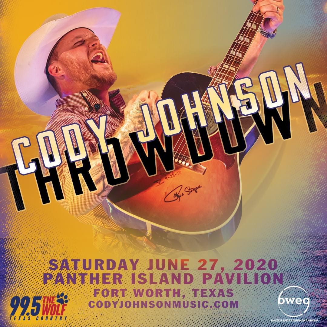Cody Johnson Throwdown | Panther Island Pavilion | 6.27.20