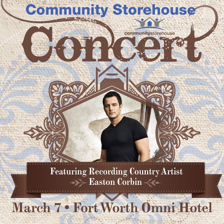 Win a Tickets to Easton Corbin benefitting Community Storehouse!