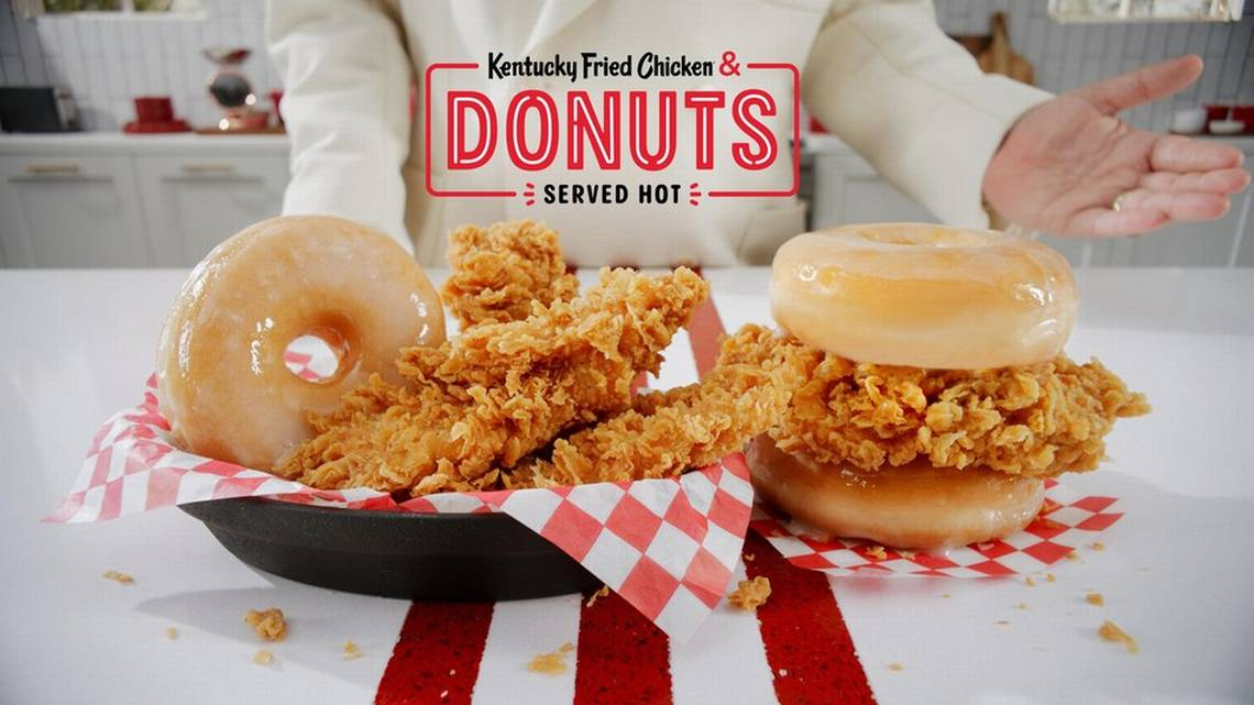 Coming Monday…..KFC's New Donuts & Chicken Combo