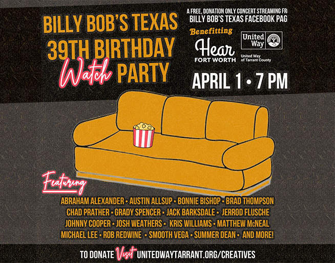 Celebrate 39 Years of Billy Bob's Texas While Supporting Some Great Causes!