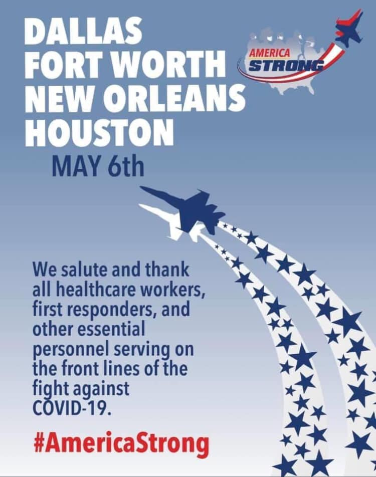 Blue Angels To Salute DFW Healthcare Workers