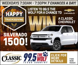 Happy Trucksgiving Win a Truck from 995 The Wolf Classic Chevrolet in Grapevine