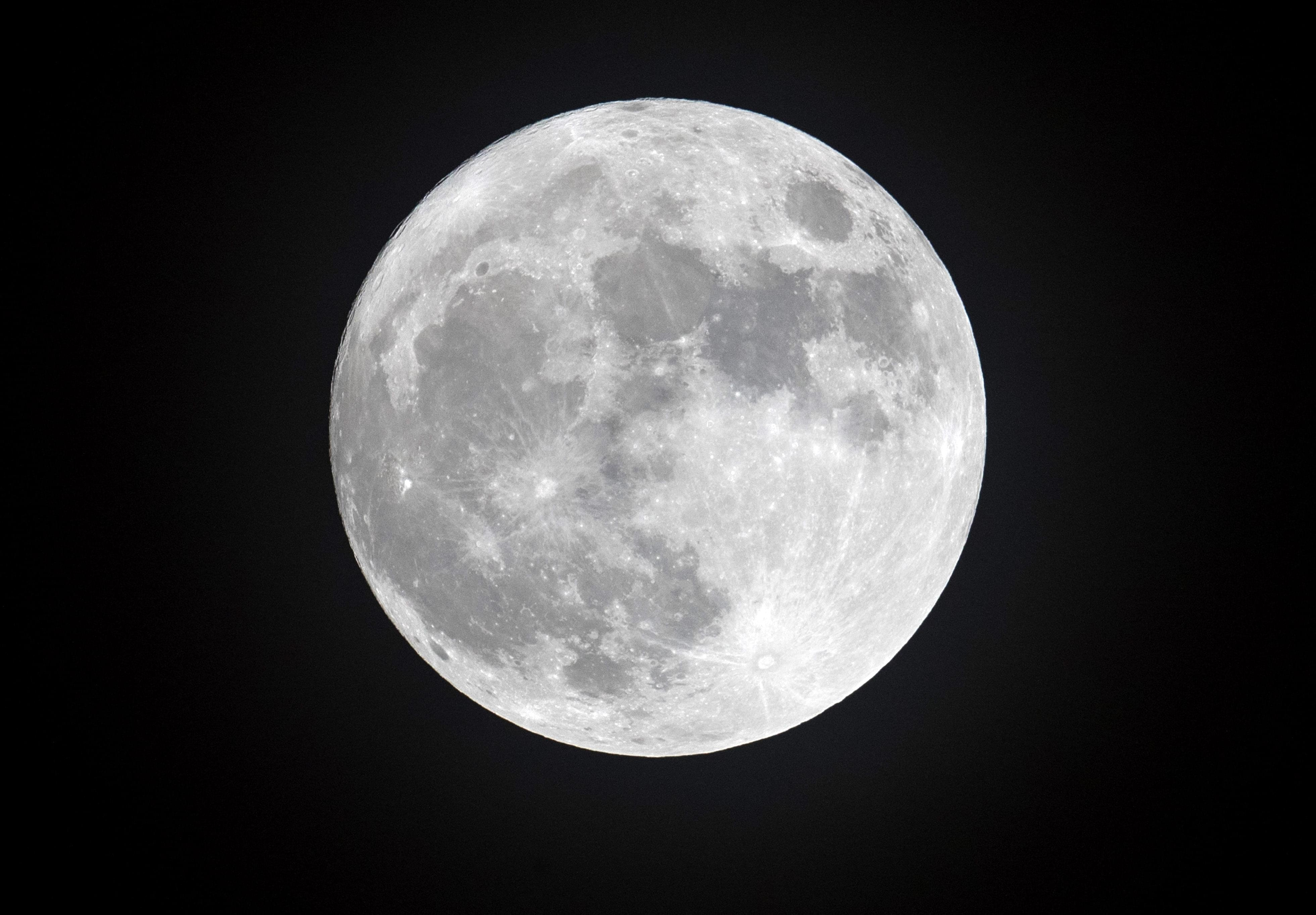The Cold Moon Rises Over Cornwall