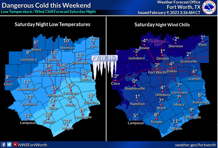 Dangerous Cold This Weekend