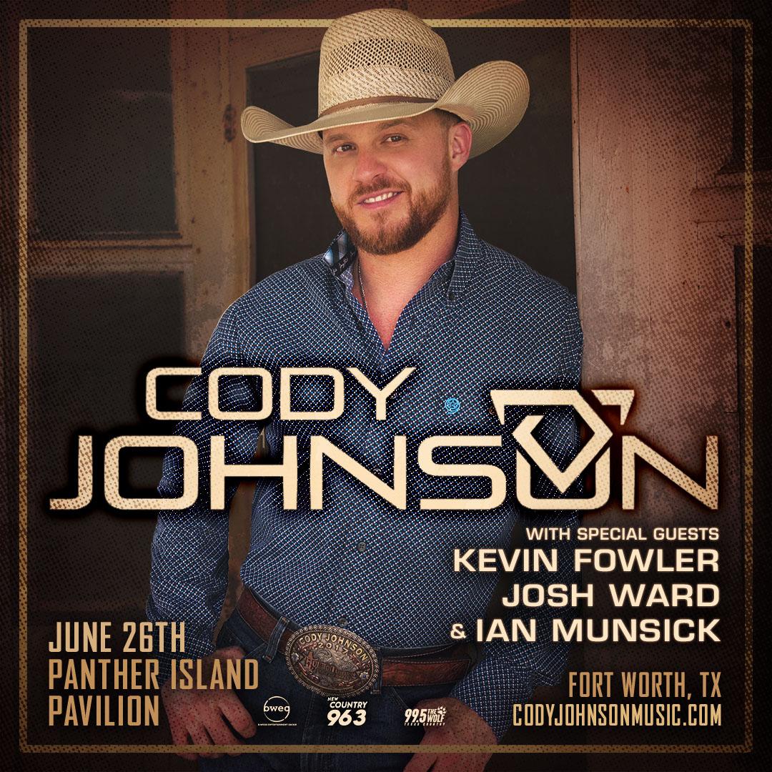 Cody Johnson & Friends | Panther Island Pavilion – June 26, 2021
