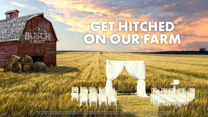 Busch Beer Giving Away Farm Weddings