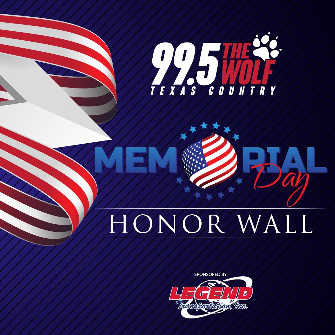 Memorial Day Honor Wall