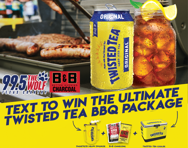 Text to Win The Ultimate Twisted Tea BBQ Package