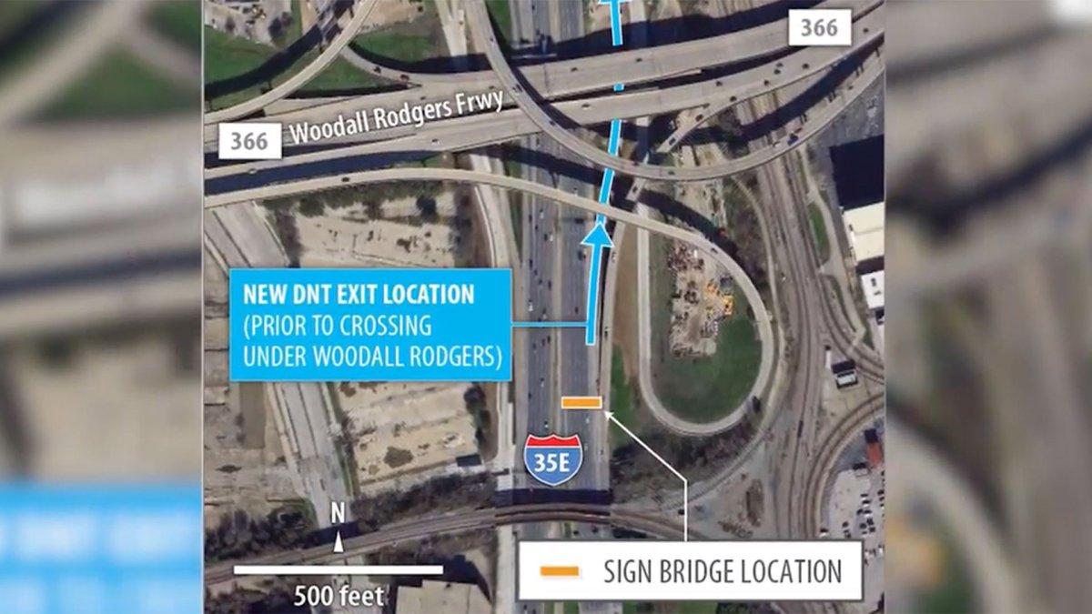 BIG Change On 35E In Downtown Dallas Starts Saturday