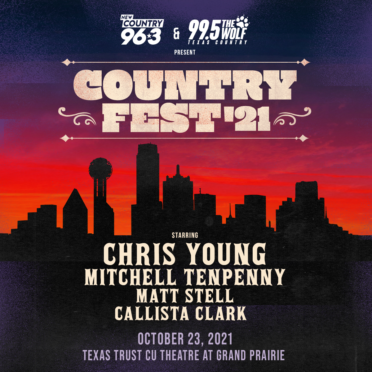 COUNTRYFEST '21 featuring Chris Young | 10.23.21