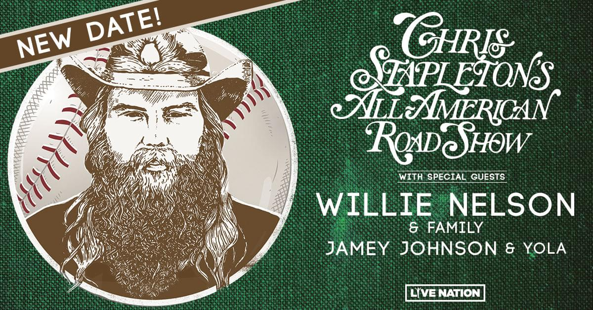 Chris Stapleton | Globe Life Field | New Date: 11.21.20