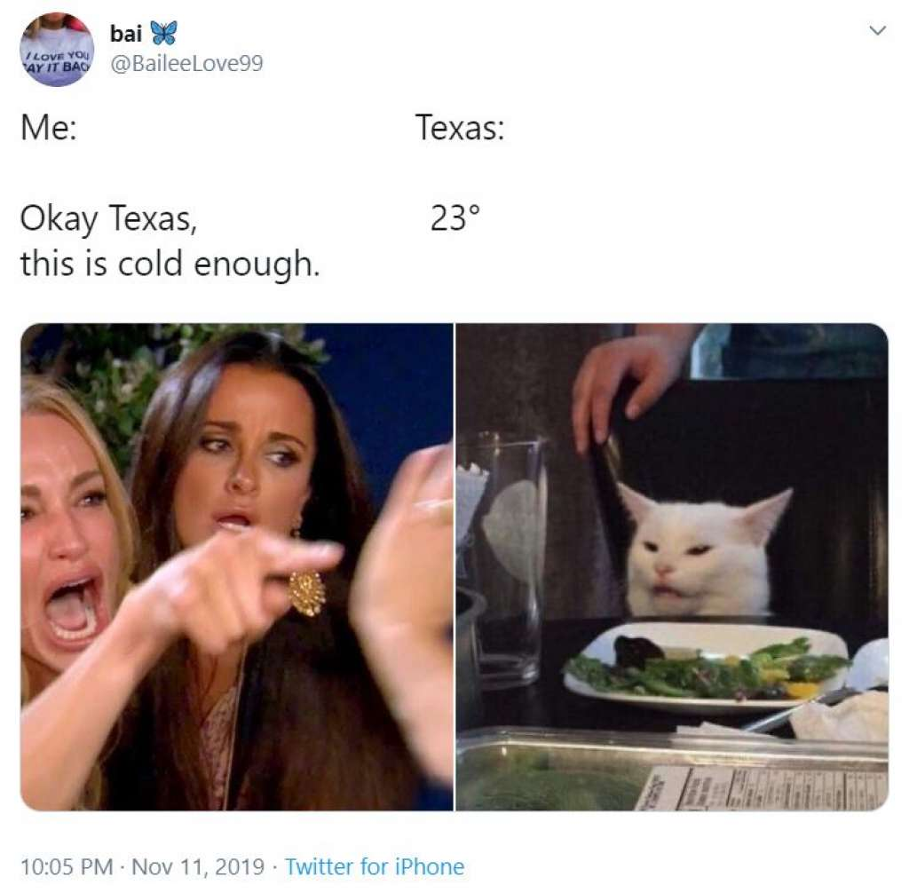 Hilarious Cold Texas Weather Memes New Country 96 3