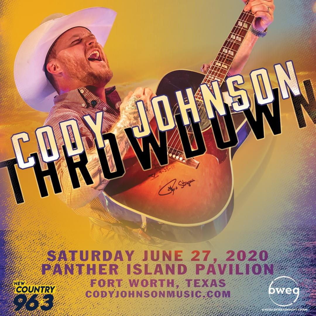 Cody Johnson Throwdown | Panther Island Pavilion | 6.27.20