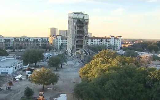 UPDATE: High-Rise North of Downtown Dallas DID NOT Implode