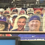 Did You See Hawkeye and Katelyn at the Rangers Game?