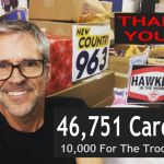 10,000 For The Troops FINAL COUNT:  46,751 Cards