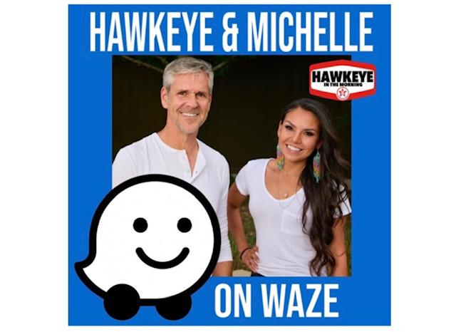 Hawkeye & Michelle now on the WAZE app