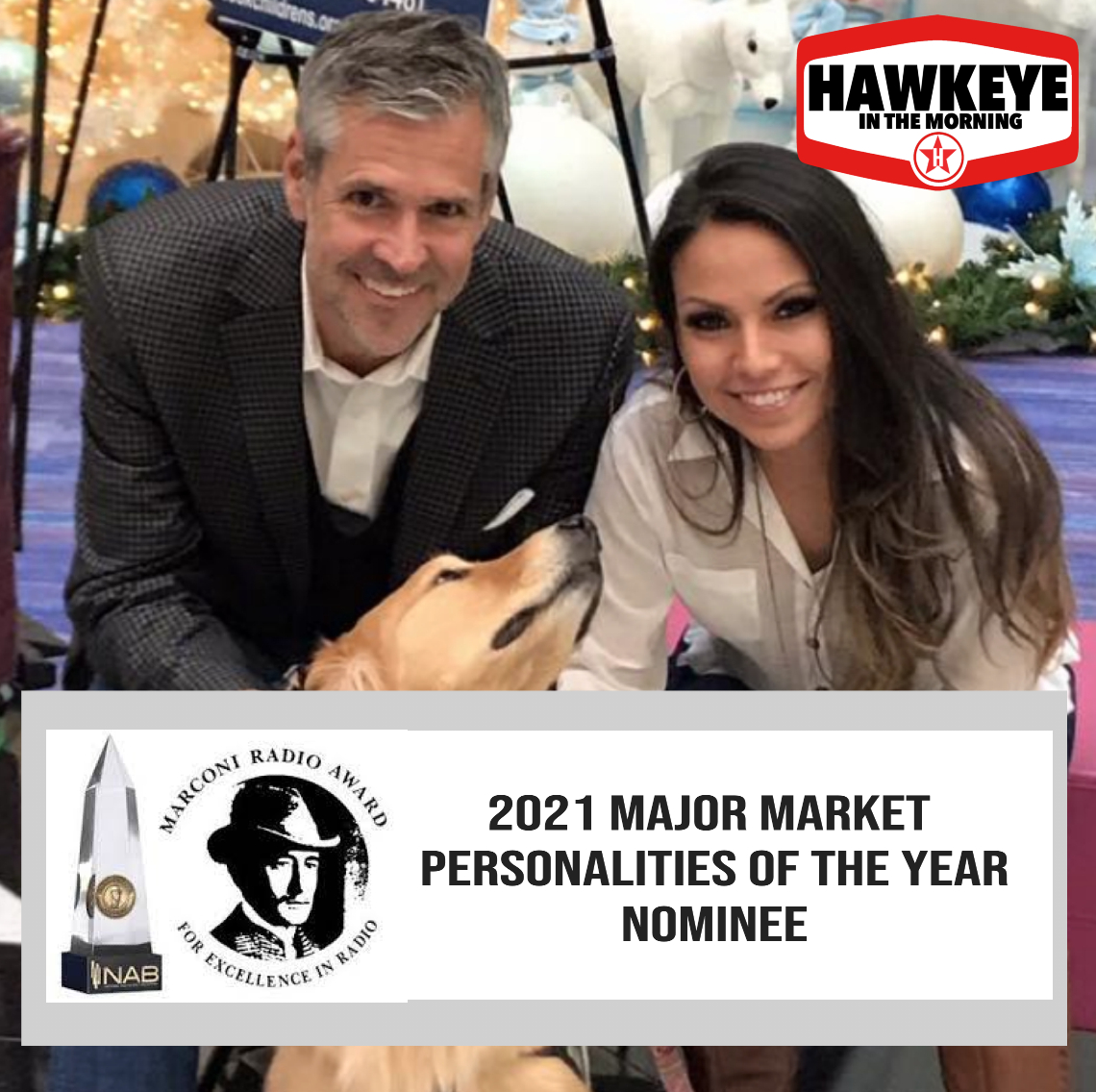 Hawkeye and Michelle nominated for the Marconi Award