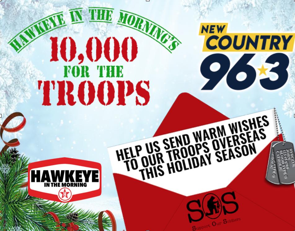 10,000 for The Troops Returns November 1st