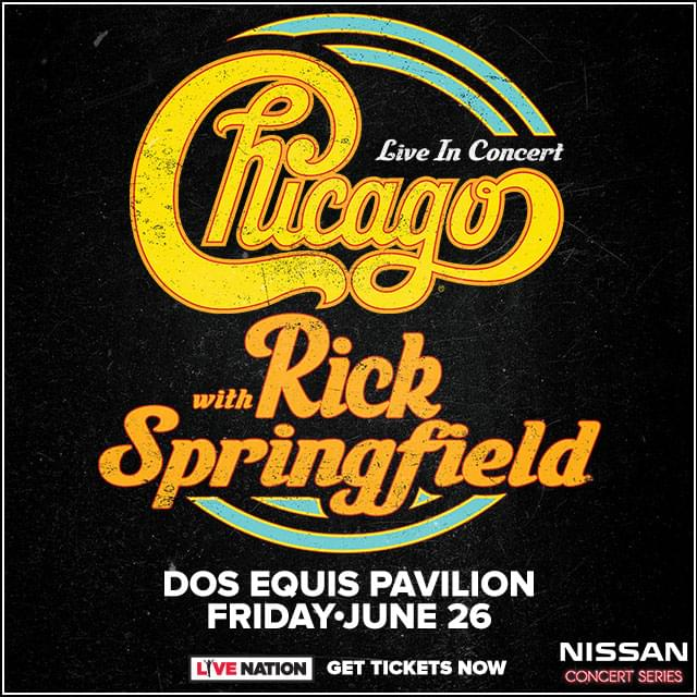 Listen to Win Tickets to Chicago with Rick Springfield!