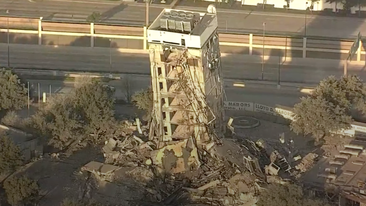 The Leaning Tower of Dallas will be turned into rubble Monday morning