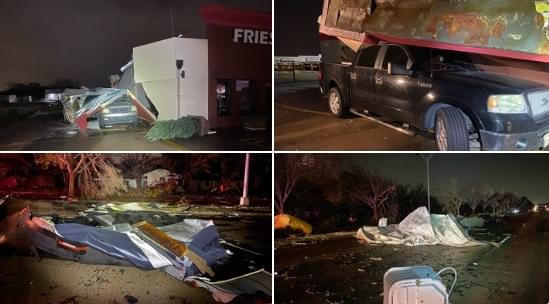 Severe Thunderstorms Across NTX; Damaged Buildings & Displaced Residents in Arlington
