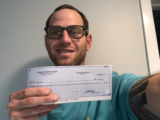 Pennsylvania Man Gets Reward after Submitting Election Fraud Tip to Lt. Gov Dan Patrick