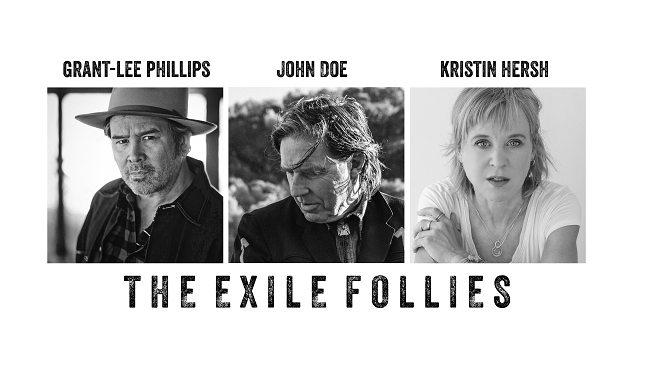 2/11/20 – The Exile Follies-John Doe, Kristin Hersh & Grant-Lee Phillips at The Ark