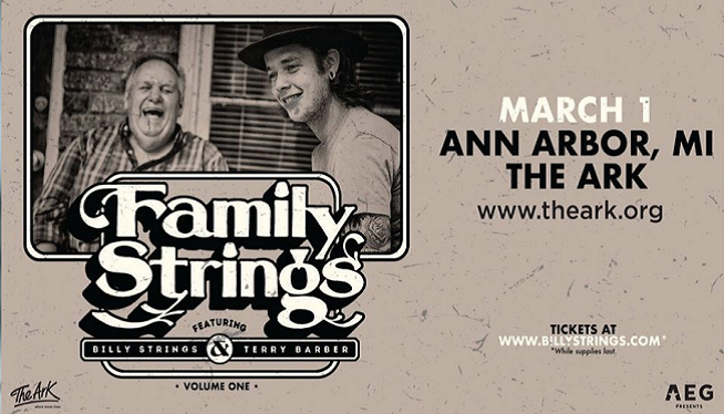 3/1/20 – Family Strings feat. Billy Strings and Terry Barber at The Ark