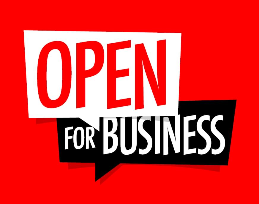 TELL THE COMMUNITY YOUR BUSINESS IS OPEN