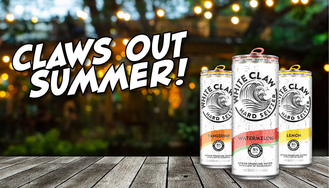 Claws Out Summer with White Claw Hard Seltzer