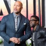 The Rock and Kevin Hart Ride Dune Buggies to 'Jumanji' Premiere