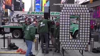 NYE NUMBERS ARRIVE IN TIMES SQUARE