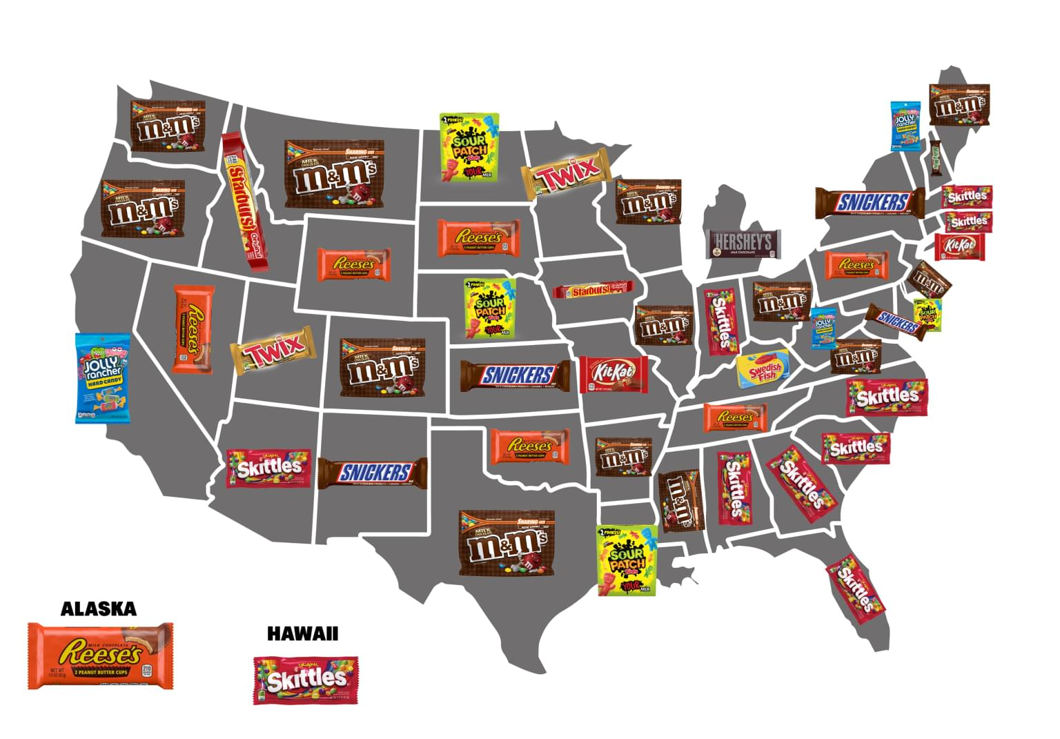 Here's the Most Popular Candy in Every State